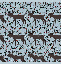 seamless pattern with elk vector image