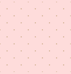 seamless pink polka background vector image