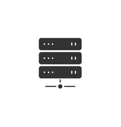 server icon flat vector image