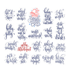 set of 20 hand lettering inscription text to vector image
