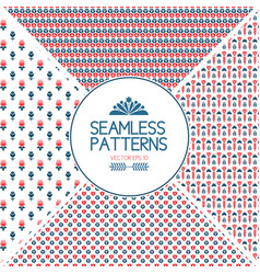 set of seamless pattern graphic elements vector image