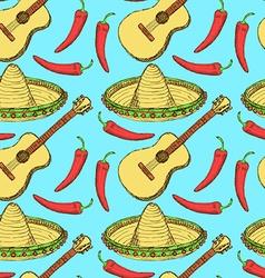 Sketch Mexican set in vintage style vector image