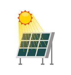solar panel modern technologies alternative energy vector image