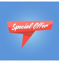 Special Offer red Tag vector image
