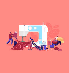 tailor characters repair clothes creative atelier vector image