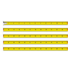 Tape measure in inches vector