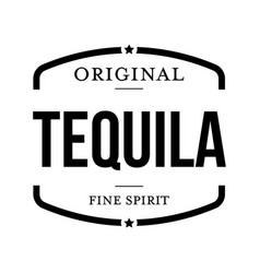 Tequila fine spirit sign black vector