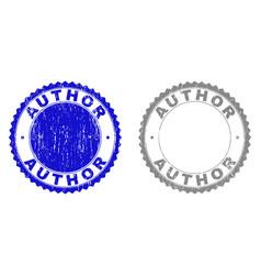 textured author grunge stamp seals vector image