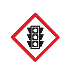 traffic light ahead sign vector image