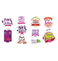 welcome back to school labels vector image