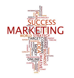 word cloud business concept marketing vector image