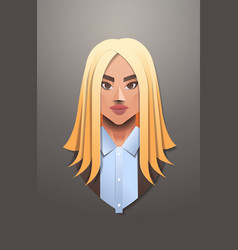 young businesswoman face avatar smiling business vector image