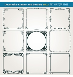 Borders And Frames Art Nouveau Style vector image