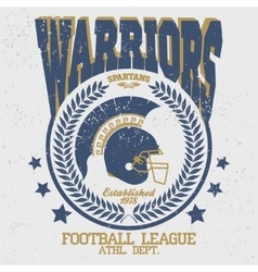 Football t-shirt spartan warrior vector
