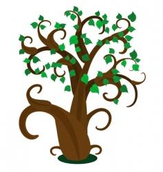 leafy tree vector image vector image