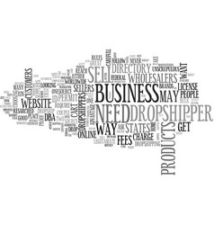 what you need to be a dropshipper text word cloud vector image