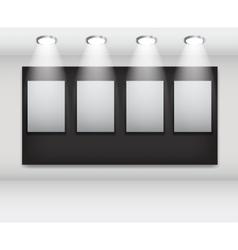 White frames in art gallery ector vector image