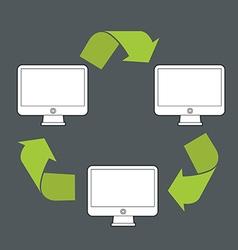 Abstract modern computer data transfer scheme vector image