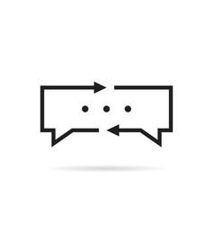 black thin line translator logo vector image vector image