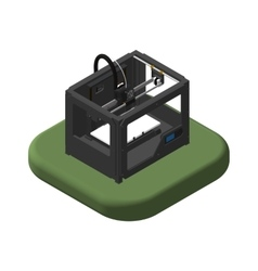 Isometric icons 3D Printer Pictograms 3D Printer vector image