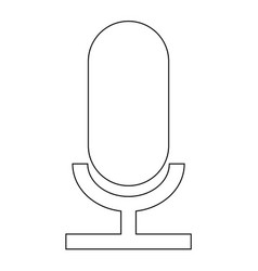 microphone the black color icon vector image vector image