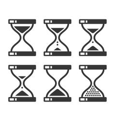 Sand Hourglass Timer Icon Set vector image