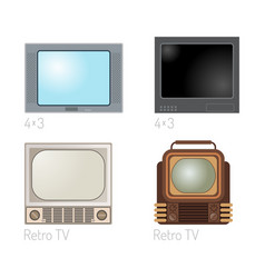tv screen vintage monitor template electronic vector image