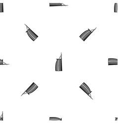 hotel burj al arab in united arab emirates pattern vector image