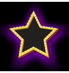 Vintage retro star with lights vector image vector image