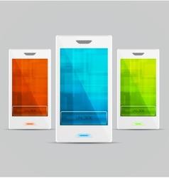 White Cellphones set vector image vector image