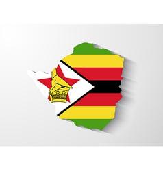 Zimbabwe map with shadow effect vector image vector image