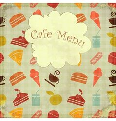 cafe card retro menu vector image vector image