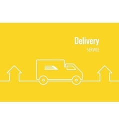 Delivery service banner vector image vector image