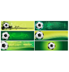 Football backgrounds vector image