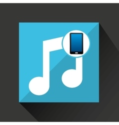 smartphone music social network media icon vector image