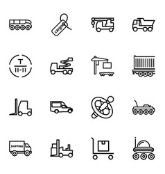 16 truck icons vector image