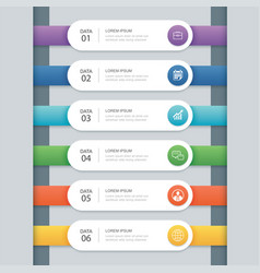 6 infographic timeline template business concept vector