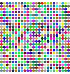 Abstract rainbow circles seamless pattern vector image