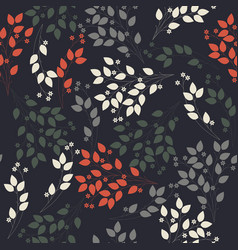 abstract seamless pattern with stylish flowers vector image