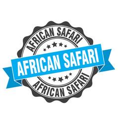 african safari stamp sign seal vector image