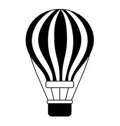 airballoon with basket recreation adventure vector image