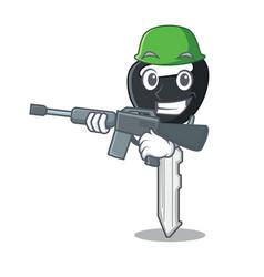 Army car keys cartoon isolatedon on shape vector