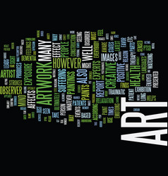 Art work and your health text background word vector