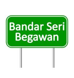 Bandar Seri Begawan road sign vector