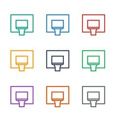 Basketball basket icon white background vector