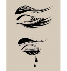 Beauty eyelashes vector