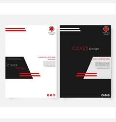 black square annual report cover design template vector image