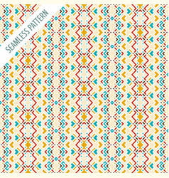 boho style seamless pattern tribal ethnic vector image