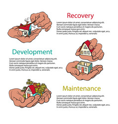 Business concept of recovery development vector
