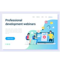 business education development webinars vector image